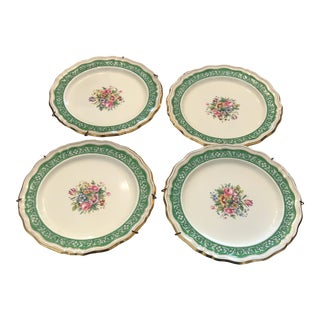 Floral Tiffany Plates - Set of 4