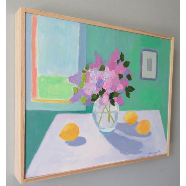 Abstract Expressionism Lilac Flowers and Lemons by Anne Carrozza Remick For Sale - Image 3 of 7
