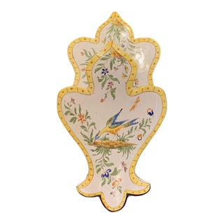 Mid-20th Century French Hand Painted Faience Wall Letter Holder For Sale