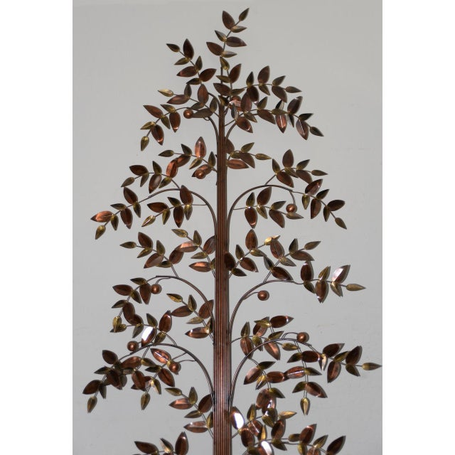 Mid-Century Modern Curtis Jere Copper Toned Metal Tree Sculpture C.1970s For Sale - Image 3 of 7