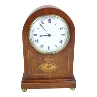 Early 20th Century English Edwardian Mantel Clock For Sale
