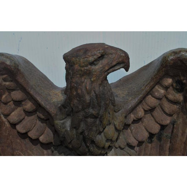 Ceramic Early 19th Century Monumental Pottery Eagle Sculpture For Sale - Image 7 of 9