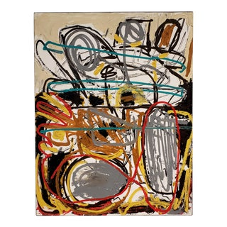 Abstract Street Art Painting by Artist Lionel Lamy For Sale