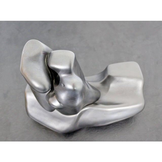 Metal Contemporary Signed Abstract Table Sculpture F. Calderon, 1991 10/50 For Sale - Image 7 of 9