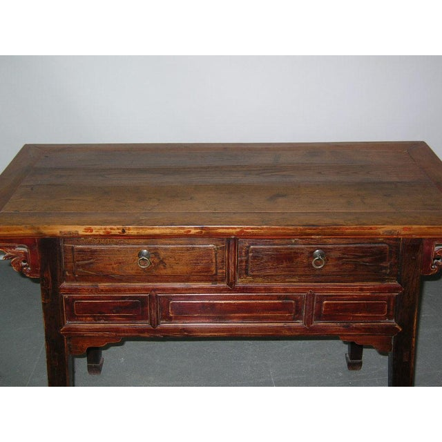 Antique Qing Dynasty Chinese Desk For Sale - Image 4 of 5