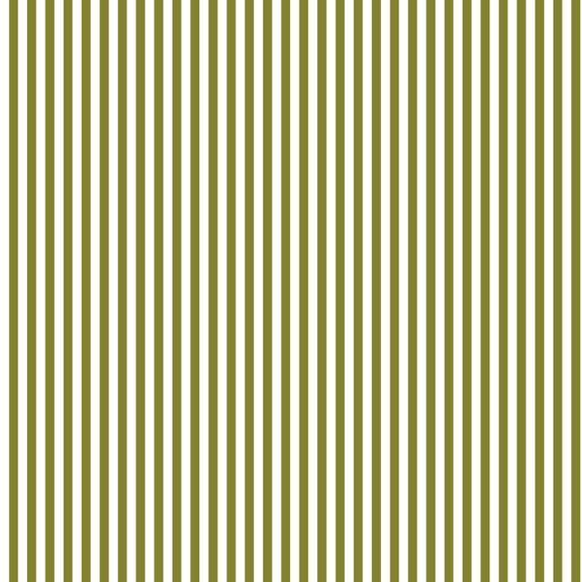 Contemporary Skirted Storage Ottoman in Candy Stripe Olive Oga For Sale - Image 3 of 5