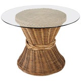 Image of McGuire Style Organic Modern Rattan Breakfast Dining Table For Sale