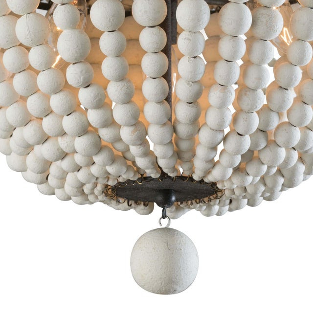 Not Yet Made - Made To Order Malibu Flush Mount in Weathered White For Sale - Image 5 of 7