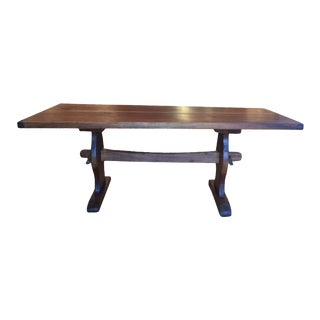 20th Century Contemporary Mahogany Trestle Table