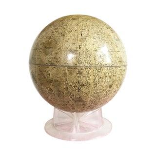 "Vintage 12"" Moon Globe on Acrylic Base For Sale"