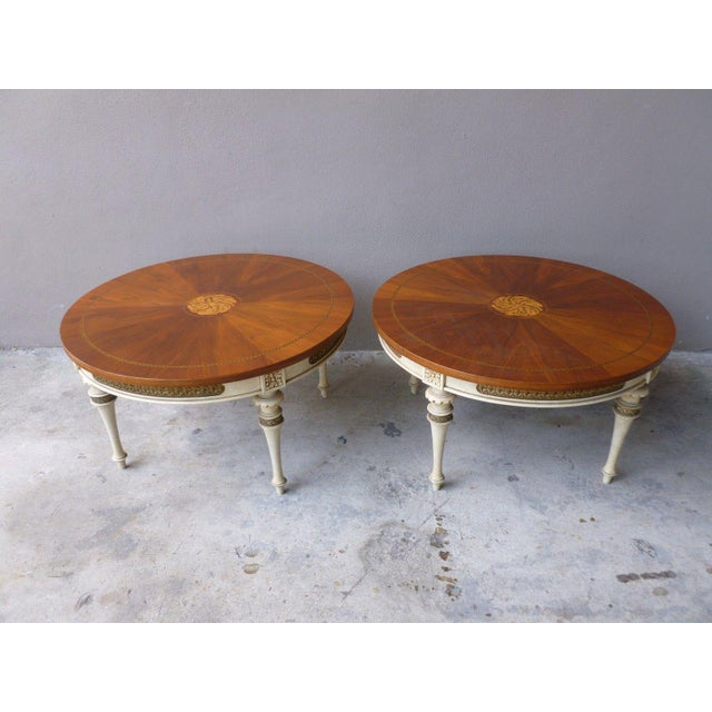 1950s 1950s Neoclassical Palladio Coffee Tables - a Pair For Sale - Image 5 of 13