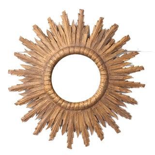 French 19th Century Gold Gilt Starburst Mirror Preview
