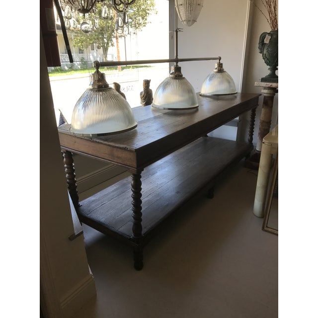 Brown Large Oak Refectory Table For Sale - Image 8 of 8