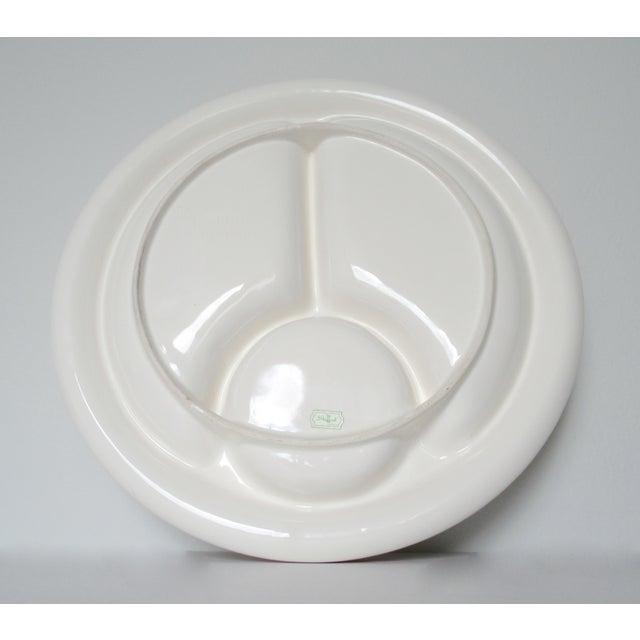Vintage Mid-Century Trompe l'Oeil Porcelain Ceramic Shrimp Cocktail Server Platter For Sale - Image 12 of 13