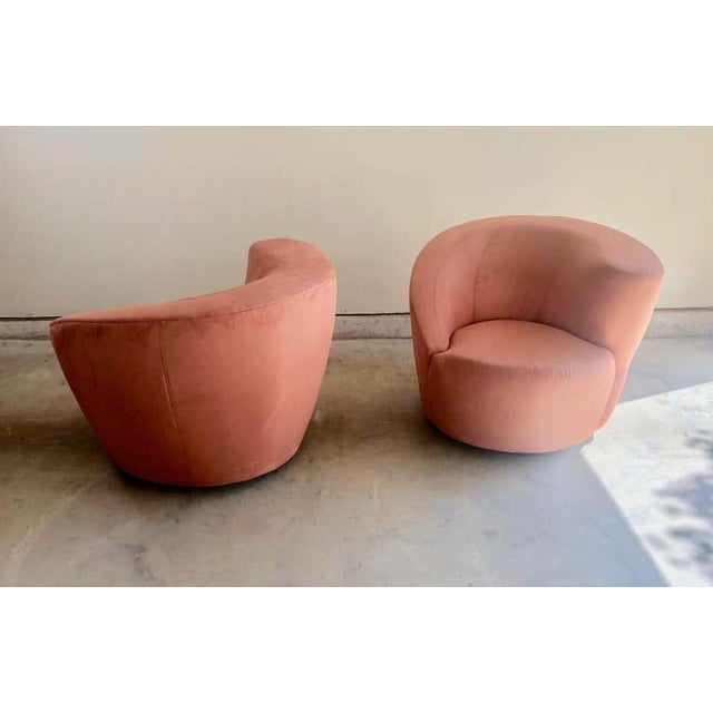 """Vladimir Kagan for Directional """"Nautilus"""" Swivel Chairs - A Pair For Sale - Image 9 of 13"""