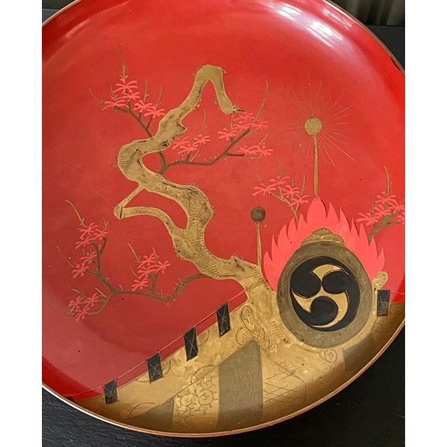 1920s Japanese Maki-e Lacquered Pedestal Dishes - Set of 4 For Sale - Image 5 of 10