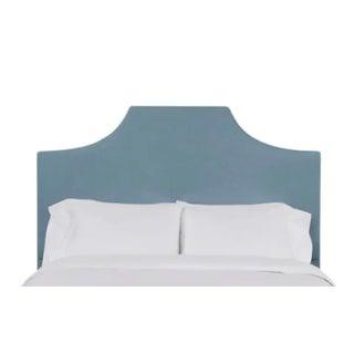 Kit California King Headboard, Blue Velvet For Sale