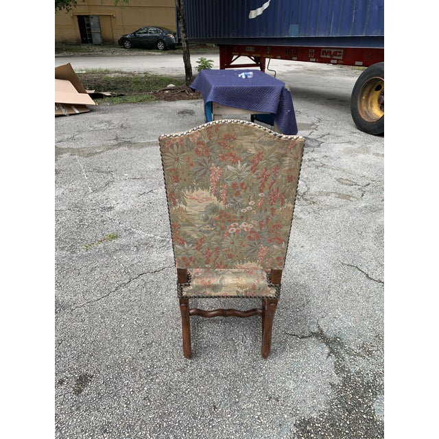 1900s Vintage French Louis XIII Style Os De Mouton Dining Chairs - Set of 6 For Sale - Image 10 of 12