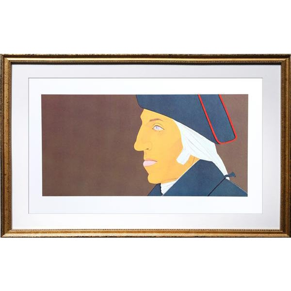 1975 Alex Katz George Washington From Kent-Bicentennial Portfolio Lithograph - Image 1 of 3