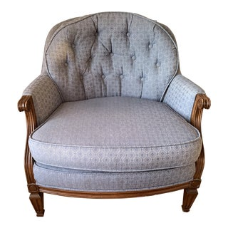 Vintage Mid Century Baker Tufted Back Chair For Sale