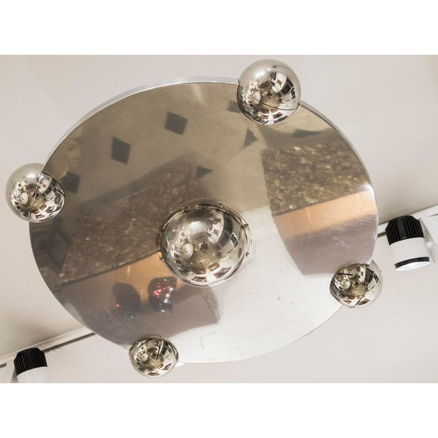 "Yonel Lebovici - Ceiling Light Model ""Soucoupe"", Steel, Circa 1969 For Sale - Image 4 of 7"