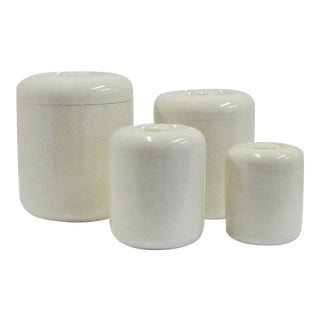 1970s Vintage Don Dame Japan Trend Pacific Canister Storage Nesting Containers - Set of 4 For Sale