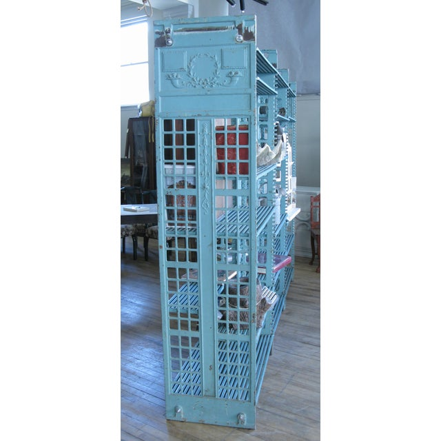 Early 20th Century Antique Cast Iron Archival Library Bookcase by Snead For Sale In New York - Image 6 of 8