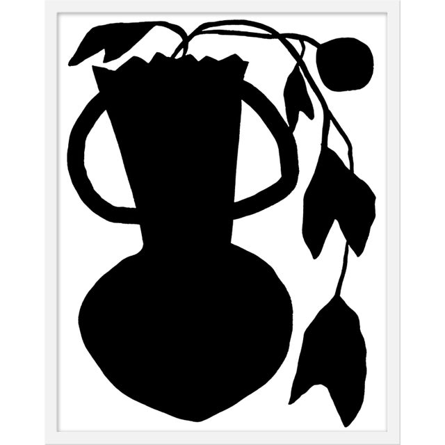 """Contemporary Medium """"Unusual Vase Four White"""" Print by Kate Roebuck, 24"""" X 30"""" For Sale - Image 3 of 3"""