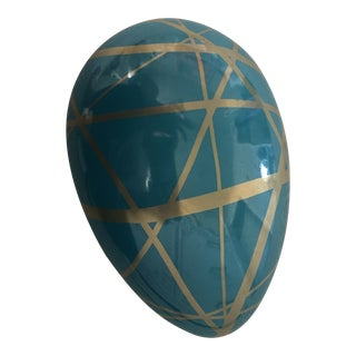 Jonathan Adler Ceramic Egg Shaped Container With Lid For Sale