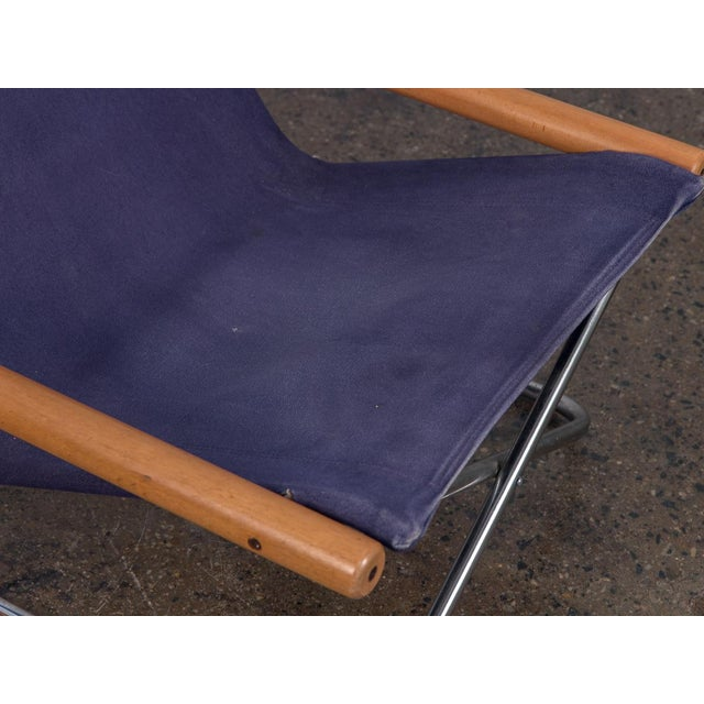 1960s NY Folding Sling Chair by Takeshi Nii For Sale - Image 5 of 10