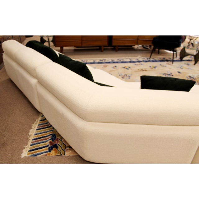 1980s Contemporary Modern Kagan Style Preview 3 Pc Curved Sectional Sofa 1980s For Sale - Image 5 of 11