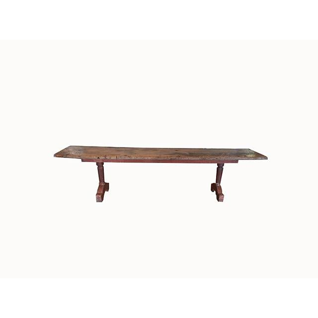 Antique Spanish Brown Bench For Sale In Nashville - Image 6 of 6