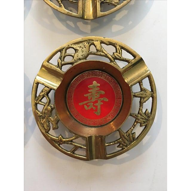 Brass Asian Ashtrays - Set of 4 - Image 5 of 9