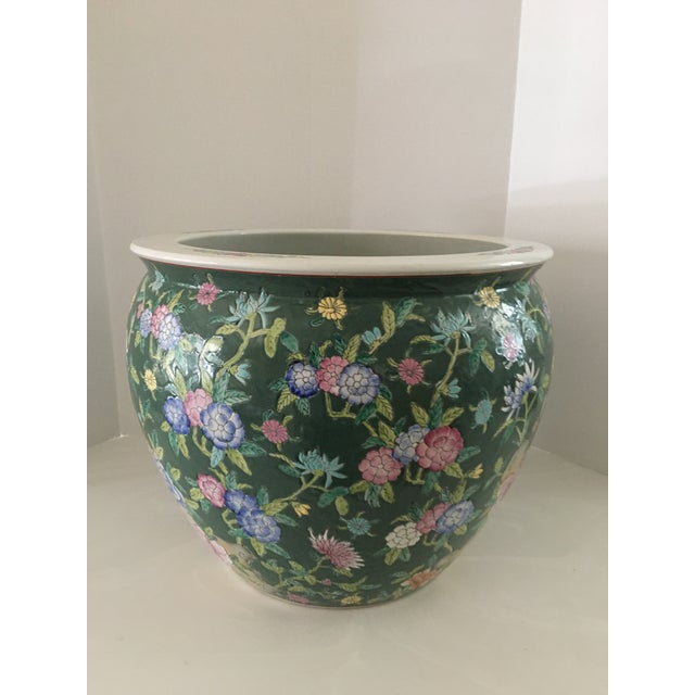 Late 20th Century Chinese Fish Bowl Planter For Sale - Image 4 of 13