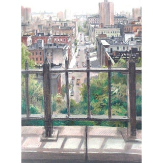 """Brooklyn, Room With a View"" Pastel Painting For Sale"