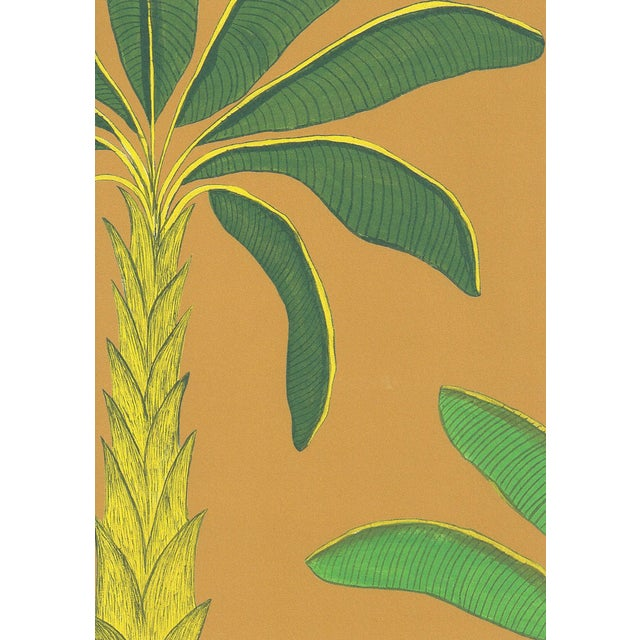 Tropical Wallpaper in Gamboge Yellow, 6 Rolls For Sale - Image 4 of 4