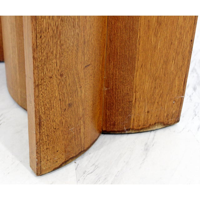 Mid Century Modern Sculptural Wood Glass End Tables - a Pair For Sale - Image 9 of 11