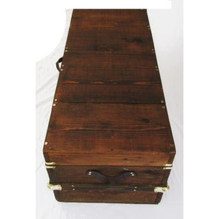 French Coffee Table Trunk in Walnut Finish Preview