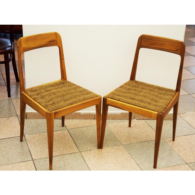 Mid-Century Modern Austrian A 7 chairs by Carl Auböck for Auböck - A Pair For Sale - Image 3 of 8