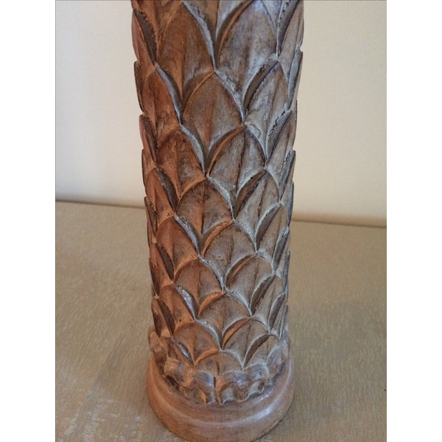 Hand Carved Footed Candle Holder - Image 3 of 6