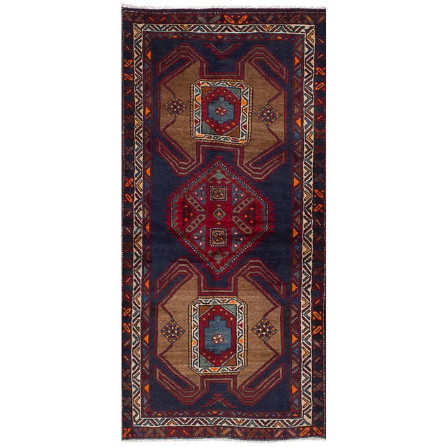 Vintage Persian Tribal Ardabil Rug - 3″ × 8″ - Image 1 of 3