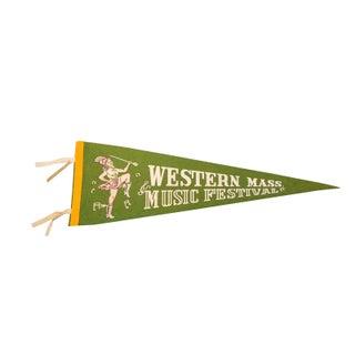 Western Mass Music Festival Felt Flag For Sale