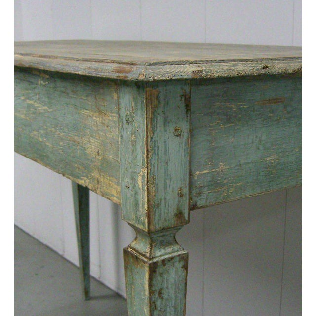 Italian Tall Painted Wood Console or Serving Table For Sale - Image 4 of 6