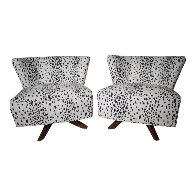 Kroehler Armless Slipper Swivel Chairs - Pair - Image 1 of 5