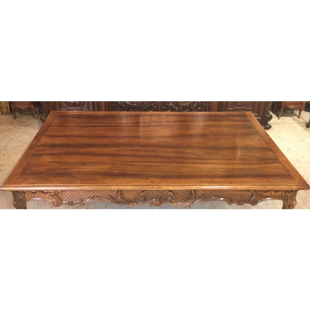 French Antique French Exceptional Walnut Dining Table with Fine Carving, Circa 1870-1890. For Sale - Image 3 of 6