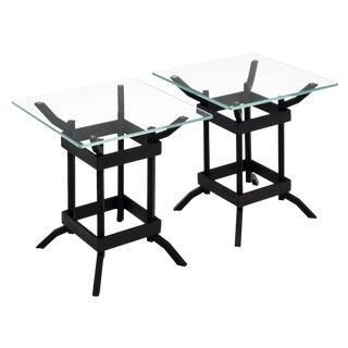 Vintage Iron Italian Side Tables For Sale