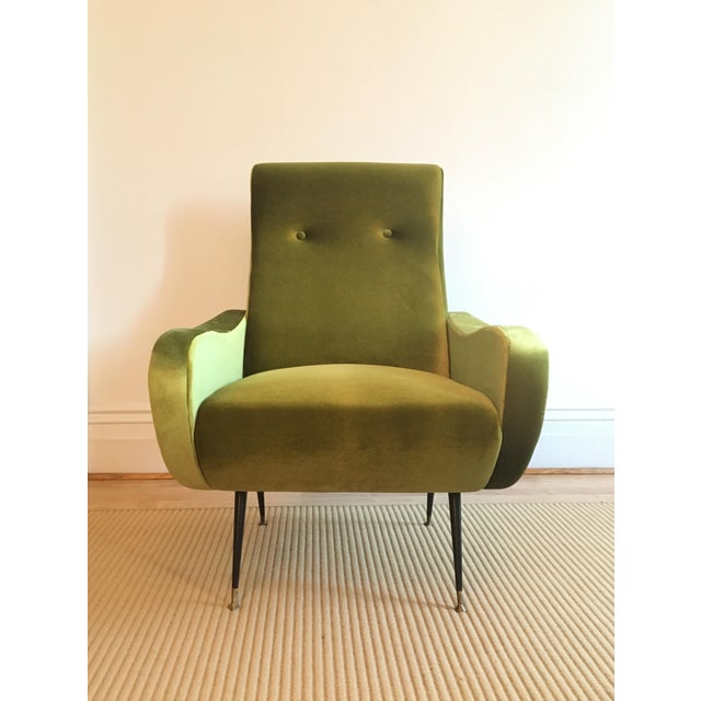 Marco Zanuso-Style Citrine Club Chairs - A Pair - Image 4 of 5