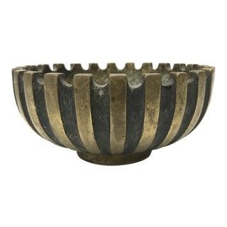 Maurice Ascalon Pal Bell Israel Modernist Brass Bowl For Sale