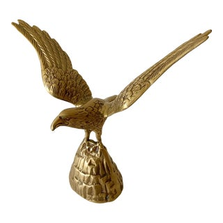 Midcentury Brass Eagle For Sale