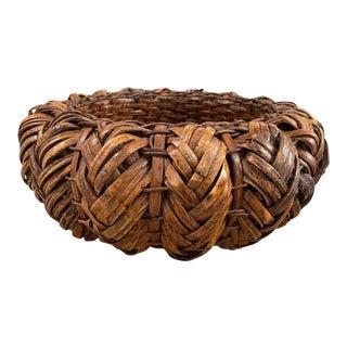 Vintage Handwoven Ikebana Basket From Japan For Sale